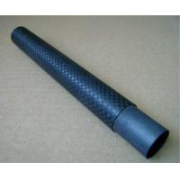 Quality Black 3 k plain light twill Carbon Fiber Telescopic Pole / Telescoping Tubes for sale