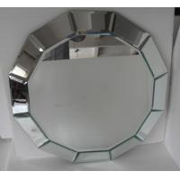 Wholesale Round Grey Decorative Framed Mirror , Modern Art Mirror For Hotel / Salon from china suppliers