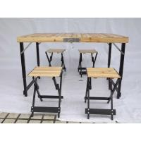 Wholesale Wood Folding Camping Table And Chairs Easy Set Up With Aluminium Alloy Frame from china suppliers
