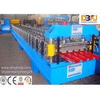 Wholesale Color Steel / Aluminum Sheet Roof Panel Roll Forming Machine Trapezoidal Type from china suppliers