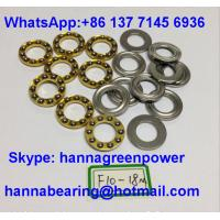Wholesale F10-18M Brass Cage Miniature Thrust Ball Bearing with Groove 10x18x5.5mm from china suppliers