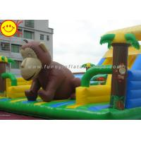 Wholesale Customized Inflatable Fun City Giant Monkey Bouncer With Slide For Animal Amusement Park from china suppliers