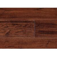 Wholesale Hickory Solid Hardwood Flooring,handscraped & distressed surface, character grade, different colors available from china suppliers