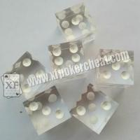 Wholesale Transparent Plastic Casino Magic Dice with Reomote Control Regular Size from china suppliers