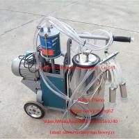 Wholesale Electric Motor Piston Mobile Milking Machine Dairy Milking Equipment from china suppliers