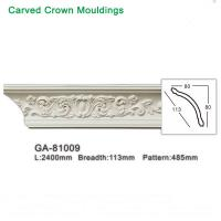 Quality Top Grade PU Foam White crown molding ceiling cornice for interior decoration for sale