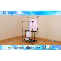 Wholesale Double Layer DIY Collapsible Clothes Drying Rack Stainless Steel Pipe from china suppliers