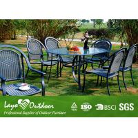 Outside Patio Furniture Dining Sets , Fire Retardant Plastic Deck Dining Furniture