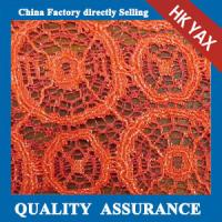 Wholesale YAX China supplier wholesale YX1273  special design orange lace embroidery fabric,fashion orange lace embroidery fabric from china suppliers
