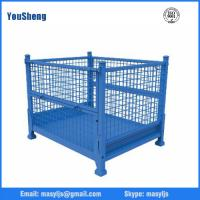 Buy cheap stacking wire mesh box, heavy duty wire mesh box for warehouse and logistics from wholesalers