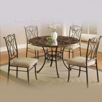 Wholesale Dining Set with Toughened Glass, Handcraft Paint and Foam Cushion from china suppliers