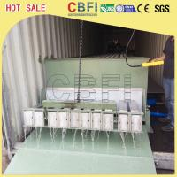 China Stainless Steel 316 Block Ice Maker / Dry Ice Block Machine With Crane System on sale