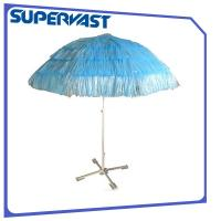 Wholesale PP Straw Hawaii 8FT Tessal Nylon Tropical Island Beach Umbrella from china suppliers