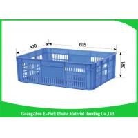 Wholesale Recyclable Plastic Crates With Lids , Light Weight Stacking Storage Boxes For Logistic from china suppliers