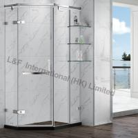Wholesale Tempered Glass Shower Enclosure with Hinge Door with Shelf from china suppliers