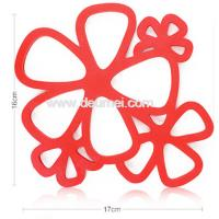 Quality High Quality New Design Beautiful Flower Hot Pod Mat Multifunctional Coaster for sale