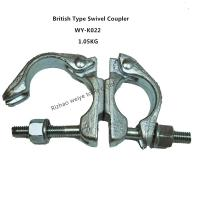 Wholesale Hot dip galvanized / forged Scaffolding Double Coupler , 360 Degrees swivel couplings from china suppliers