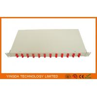 Wholesale Optical Fiber Rack Mounted ODF Patch Panel 19 Inch 24 Ports Cold Rolled Steel 1.0mm from china suppliers