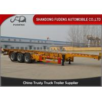 Wholesale 40 foot straight frame container chassis tri axle container carrier truck semi trailer from china suppliers
