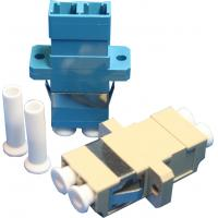 Wholesale High Reliability Rectangel Fibre Optic Adapter UPC / APC Polishing LC-0010 from china suppliers
