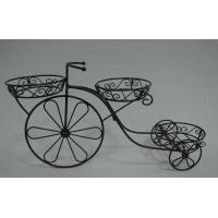 Wholesale Outdoor patio yard garden ornamental metal tricycle flower stand from china suppliers