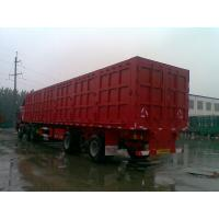 Wholesale Construction Tri Axle High Side Dump Trailer , Semi Dump Truck Trailer For Cargo Transporter from china suppliers