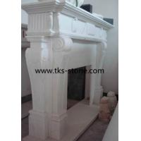 Wholesale Bianco Statuario Marble Fireplace,Diamante White Marble Fireplace,fireplace mantel from china suppliers