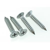 Quality AISI 316 Stainless Steel Cross Recessed Flat Head Screw Self Tapping 6 X 35mm for sale