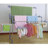 Wholesale Outdoor DIY Metal Clothes Drying Rack 3 Pole Layer Screen Type from china suppliers
