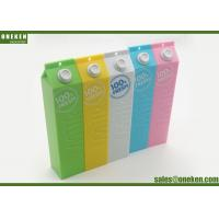 Wholesale Plastic Case 18650 Power Bank Milk Box Design Yellow 1800mAh USB Connected from china suppliers