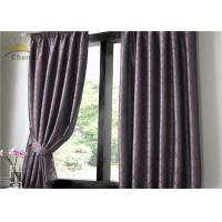 Wholesale Colourfast UV Protection Curtains , Indoor Purple Jacquard Curtains Dustproof from china suppliers