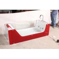 Wholesale Red rectangle Air Bubble Bathtubs ABS Acrylic Jaccuzi for bathroom 87 x 182 X 72 from china suppliers