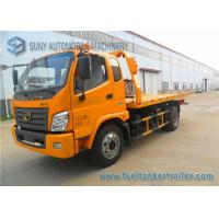 Wholesale Yellow Forland Times 5T flatbed tow truck 3 Seats 1 Sleeper Left Hand Drive from china suppliers