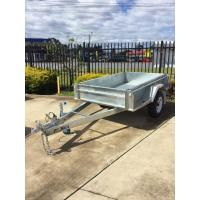 Wholesale 7x5 Hot Dipped Galvanized Single Axle Trailer with Mechanical Disc Brake 1400KG from china suppliers