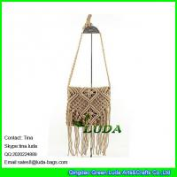 Wholesale LDMX-006 cotton beach bag 2016 fashion brown straw bag mini shoulder bag from china suppliers