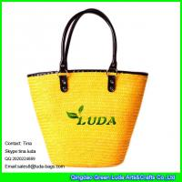 Wholesale LUDA big handbags wholesale wheat straw tote summer bag from china suppliers