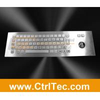 Wholesale stainless steel keyboard with trackball for information kiosk, internet kiosk from china suppliers