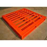Wholesale Strong Blue Orange Repairable Recyclable Metal Pallet , 15 - 30kg from china suppliers