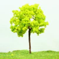 Wholesale Railway Layout Miniature Model Trees Yellow Green Street Wire Tree 7cm from china suppliers