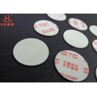 Wholesale Environmental Filmed Fiber Small Desiccant Packs 1.0mm Thickness , Circle Shaped from china suppliers