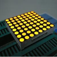 Wholesale Yellow 3mm 8 x 8 Dot Matrix Led Display With White Dots Black Surface from china suppliers