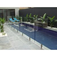 Wholesale Glass Swimming Pool Fencing , 85% Light Transmittance Glass Pool Safety Fence from china suppliers