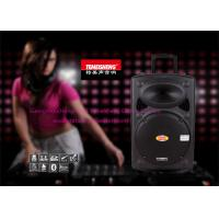 Wholesale 15 Inch Wooden Portable Trolley Speakers With Wireless Microphone from china suppliers