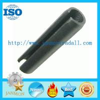 Quality DIN1481(ISO8752) Slotted Spring Pin,Black slotted spring pin,Black high tensile roll pin,Spring steel roll pin Black for sale