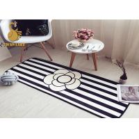 Wholesale Black White Water Absorbing Floor Mats / Living Room Area Rugs Contemporary Style from china suppliers