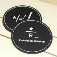 Wholesale Eco-friendly silicone black 8.5 cm tea cup coaster from china suppliers