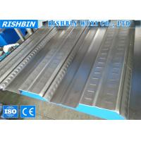Wholesale Galvanized Metal Deck Roll Forming Machine with 80 mm Diameter , Roll Forming Line from china suppliers