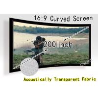 Wholesale Ultra Big 200-inch Curved Fixed Frame DIY Screen , Acoustically Transparent Fabric With CE from china suppliers