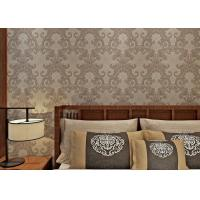 Wholesale Washable Victorian Style Wallpaper For Living Room , Contemporary Damask Wallpaper Mould Proof from china suppliers