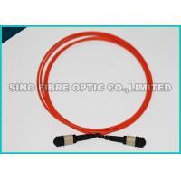 Wholesale Red MPO Fiber Optic CableOM3 , Male Pinned 40G MPO Cable Type - B Polarity from china suppliers